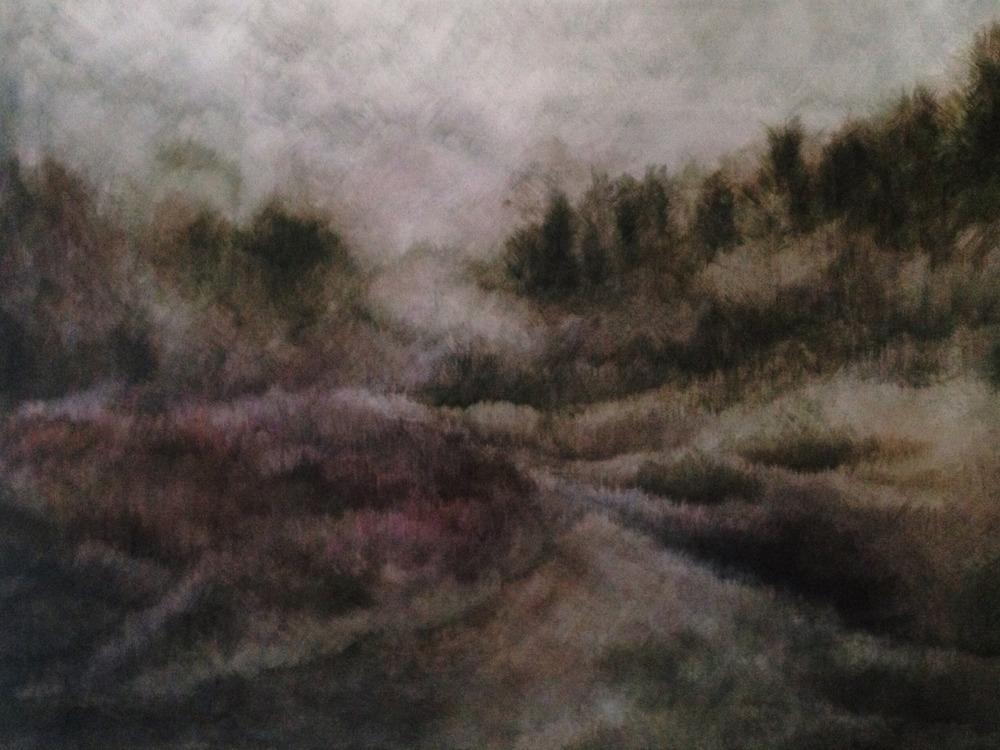 Zarah Cassim 'A Certain Place' Oil on canvas 45 x 61cm
