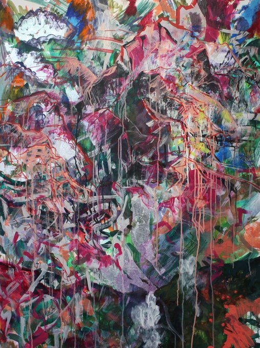Anastasia Pather Stoneface Mixed media on canvas 130 x 97 cm