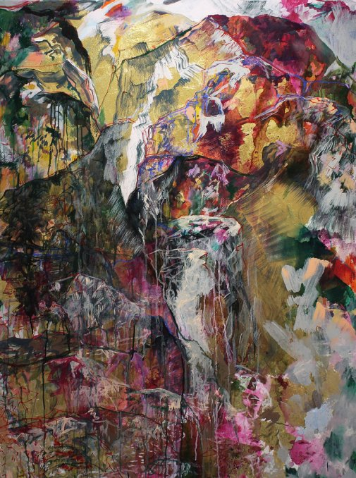 Anastasia Pather Territory Mark Mixed media on canvas 130 x 97 cm