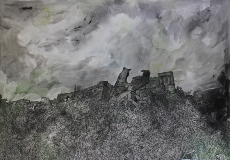 Isabella Kuijers Ozymandias, 2016 Mixed media on paper 69 x 96 cm