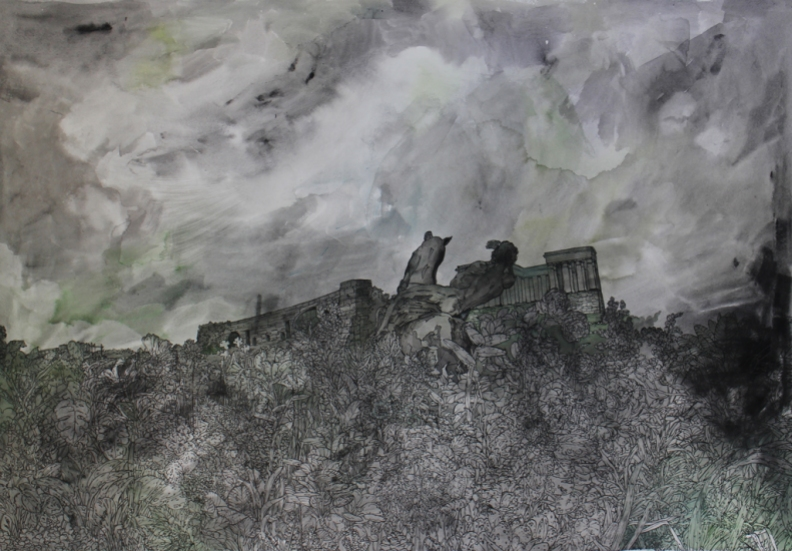Isabella Kuijers Ozymandias, 2016 Mixed media on paper 69 x 96 cm