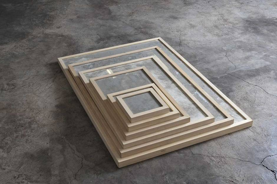 Maaike-Bakker-Everything-that-happens-(2014)-CEment-dust-in-natural-wood-frames